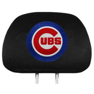 Chicago Cubs Black Two Pack Headrest Covers