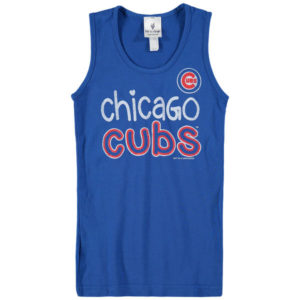 Girls Youth Chicago Cubs Soft as a Grape Royal Curveball Tank Top